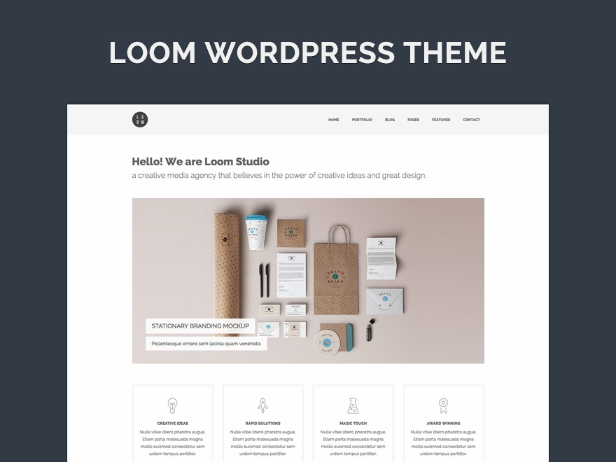 Loom top WordPress theme