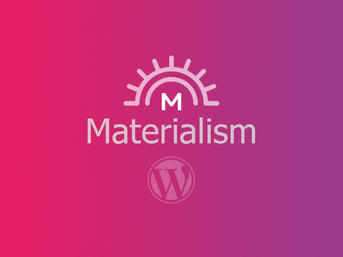 Materialism WordPress theme