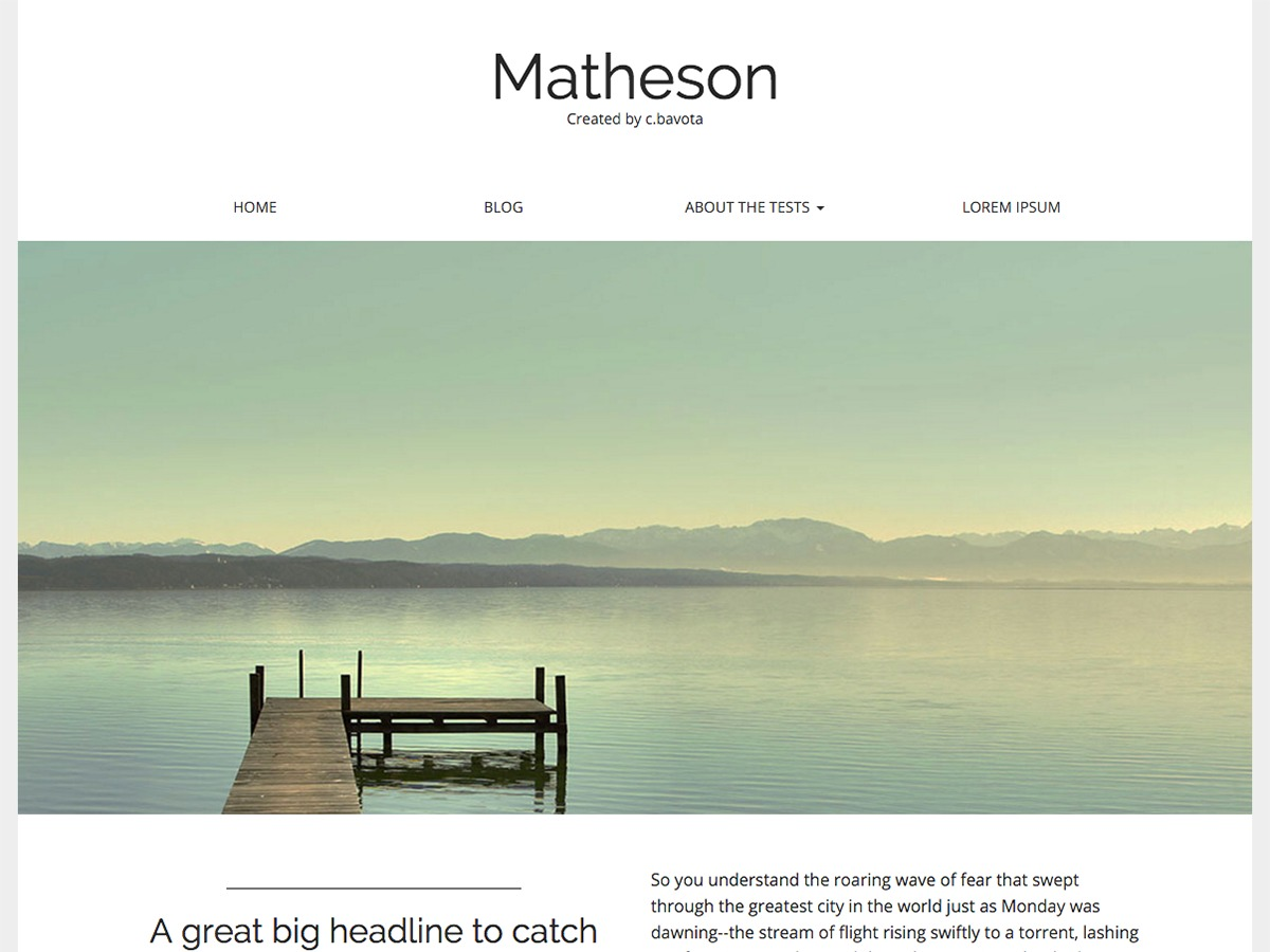 Matheson WordPress video template