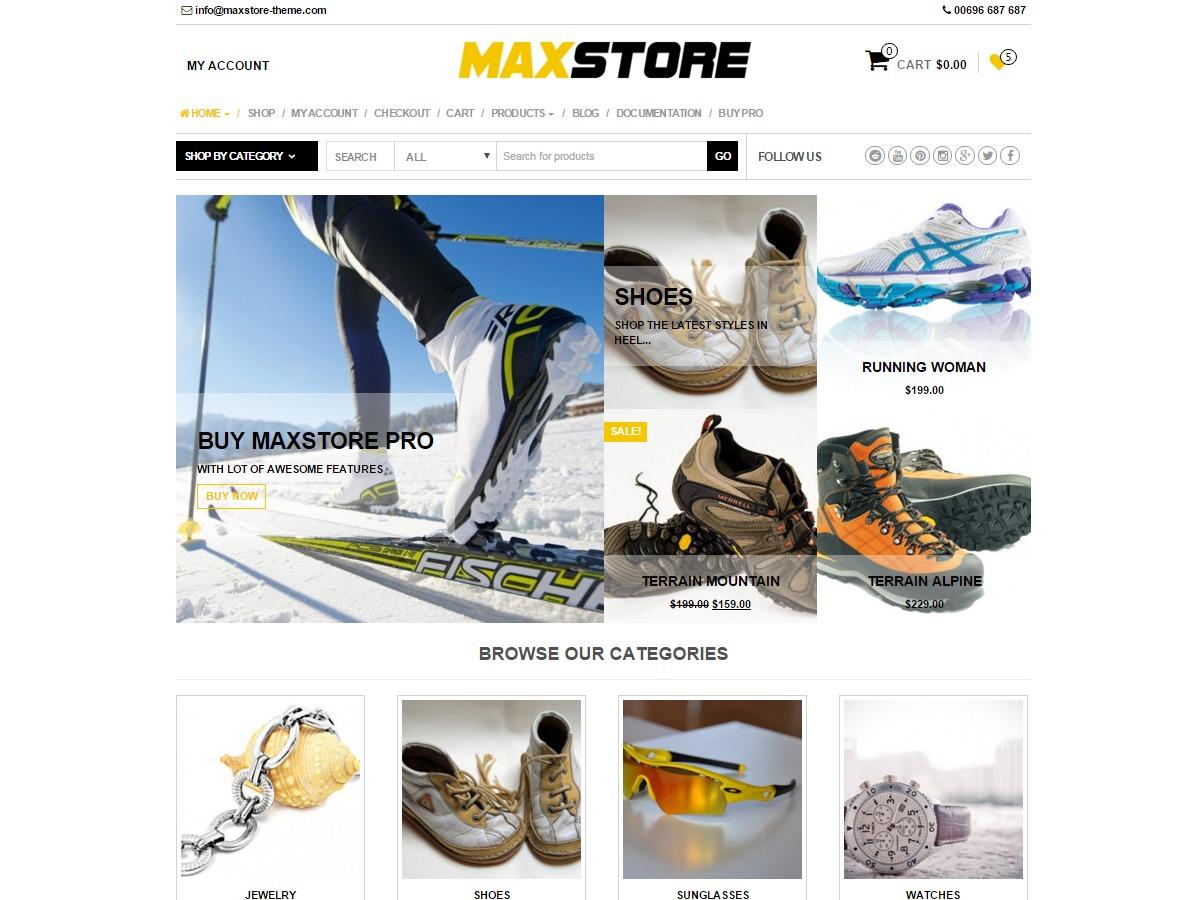 MaxStore best WooCommerce theme