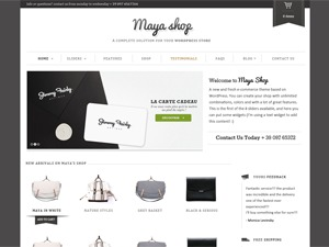 Maya Shop WordPress ecommerce theme