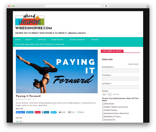 MH HealthMag free WordPress theme - wired2inspire.com