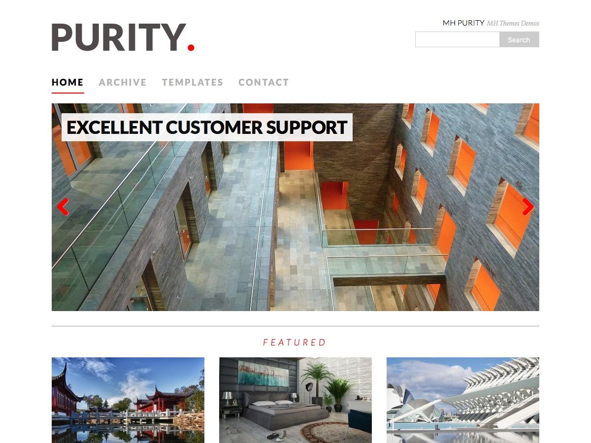 MH Purity WordPress blog template