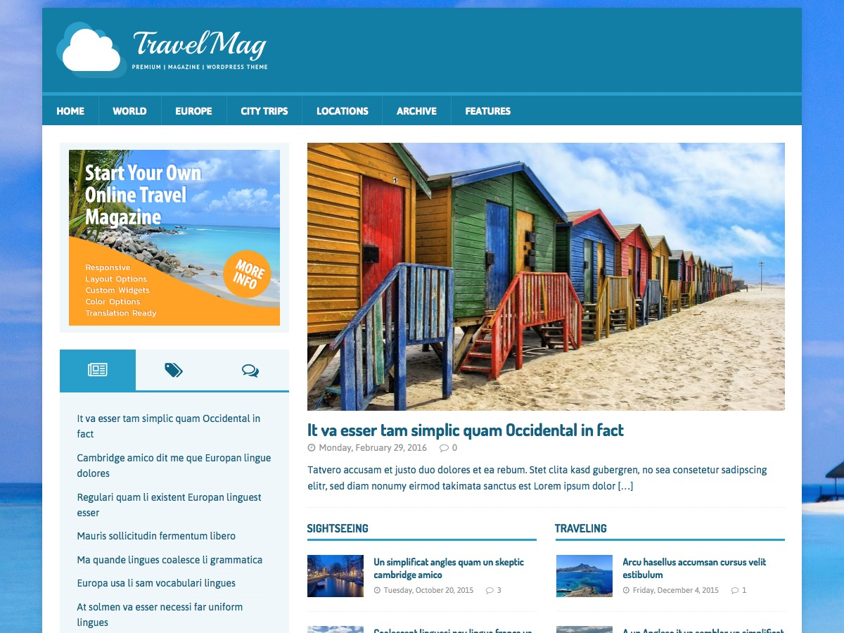 MH TravelMag best WordPress magazine theme