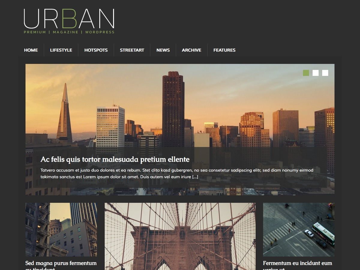 MH UrbanMag best free WordPress theme