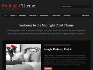 Midnight Child Theme template WordPress