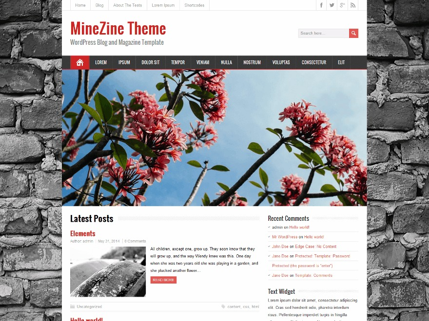 MineZine Premium WordPress store theme