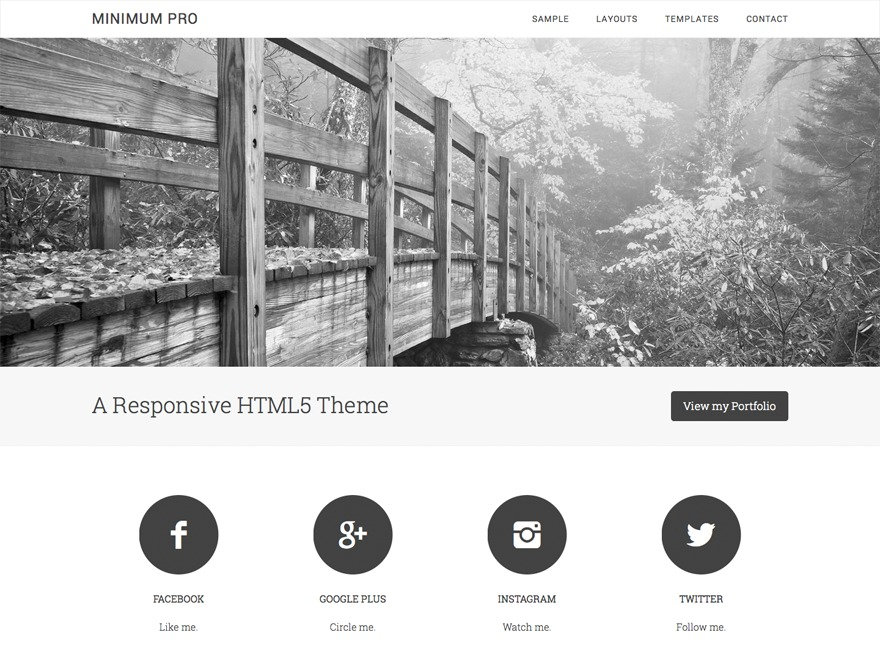 Minimum Pro WordPress page template