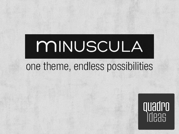 Minuscula WordPress theme