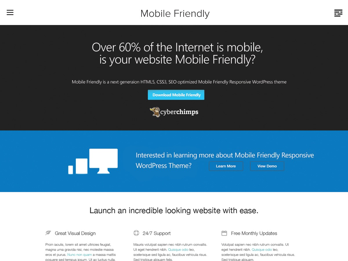 Mobile Friendly free website theme