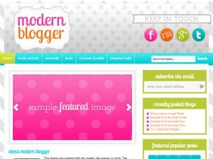 Modern Blogger Child Theme WordPress blog theme
