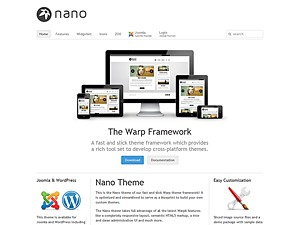 Nano2 WordPress template