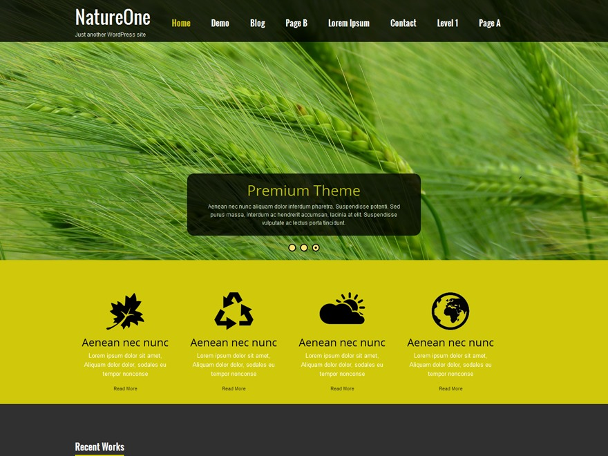 Nature One WordPress photo theme