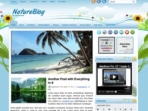 NatureBlog WordPress blog template