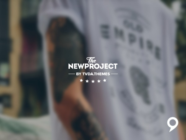 New Project WordPress shop theme