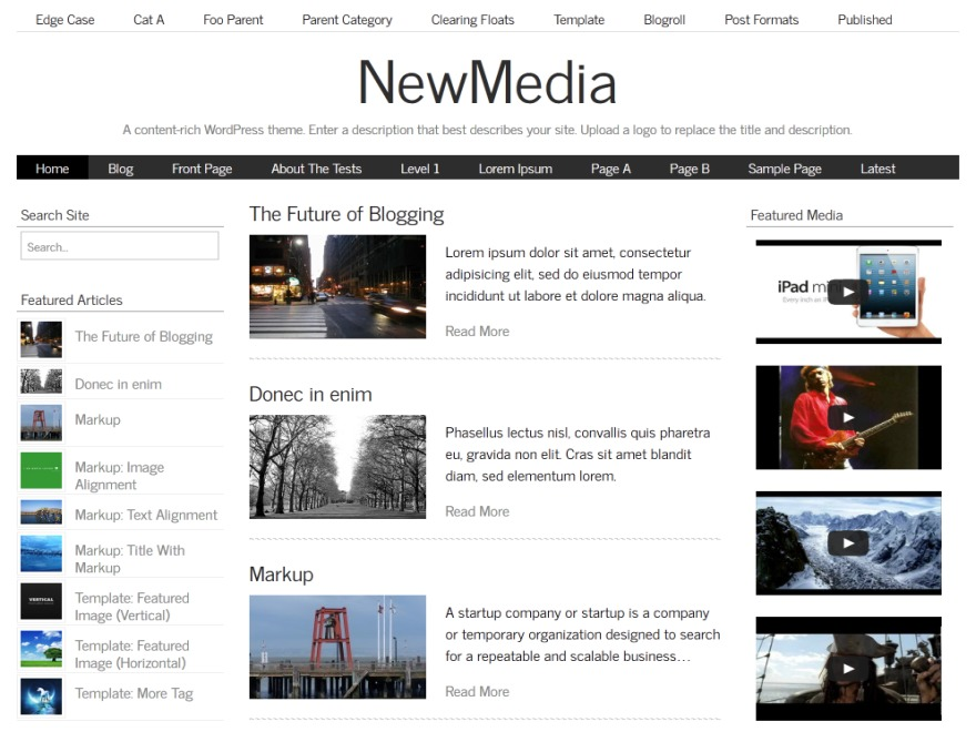 NewMedia best WordPress magazine theme