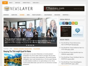 NewsLayer newspaper WordPress theme