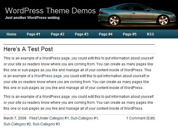 Nitrous theme WordPress