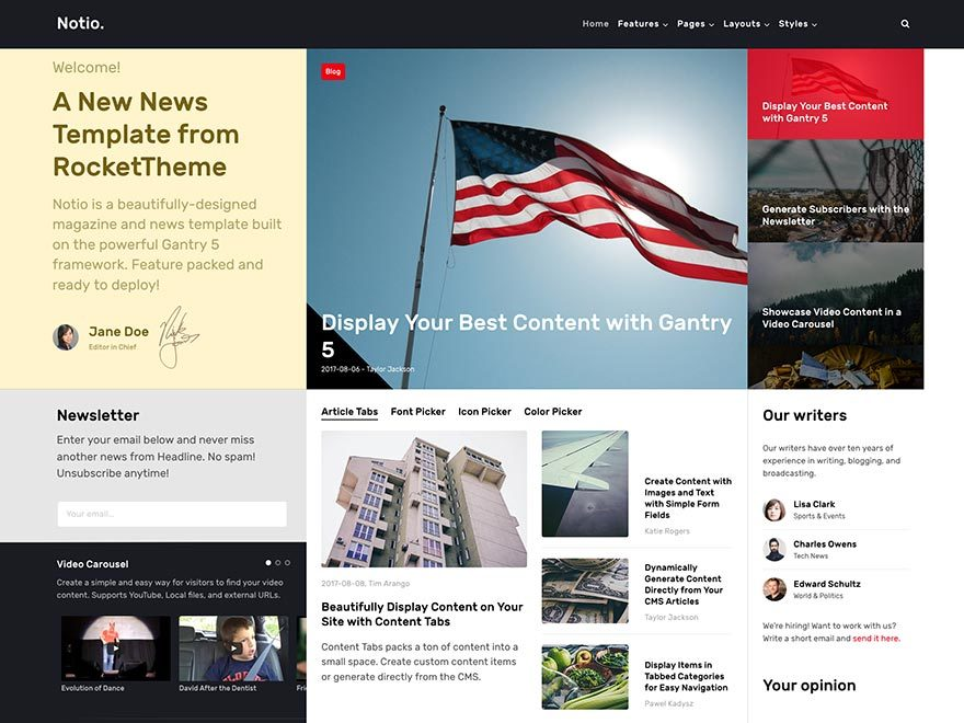 Notio best WordPress theme