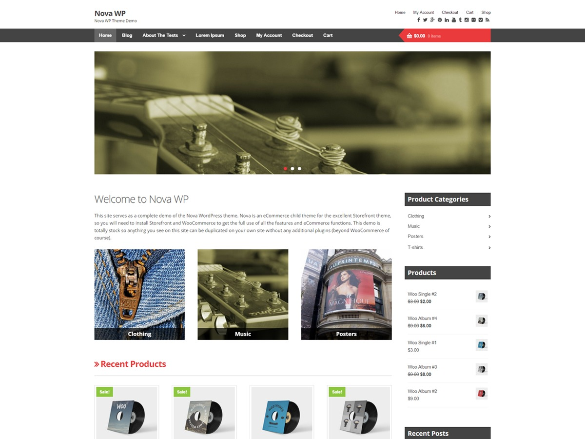 Nova WP WordPress shopping theme