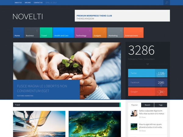 Novelti WordPress magazine theme