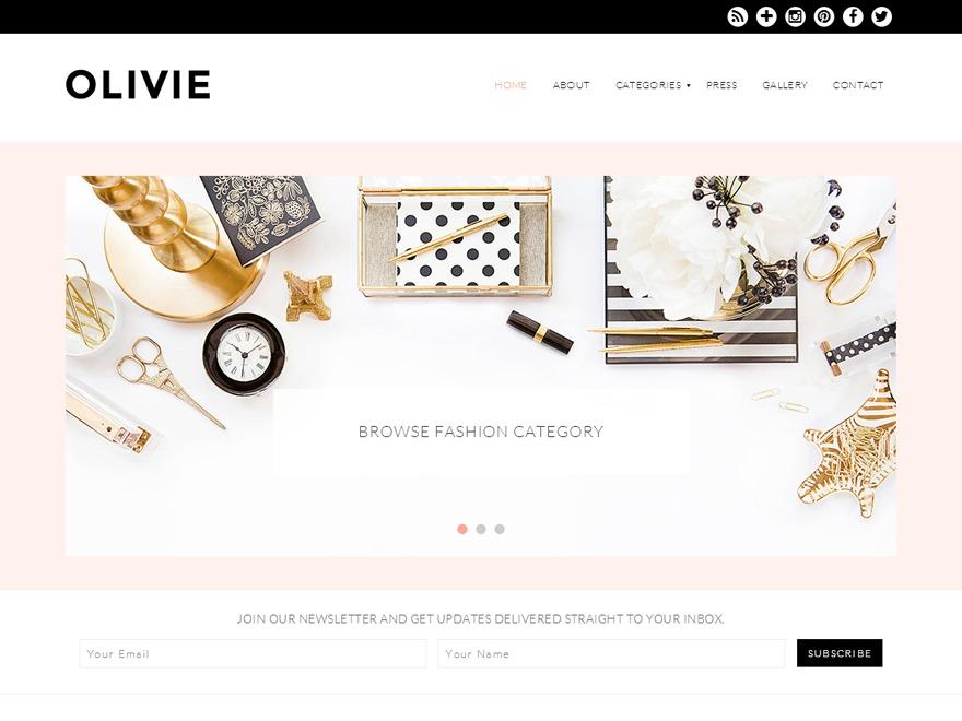 Olivie theme WordPress