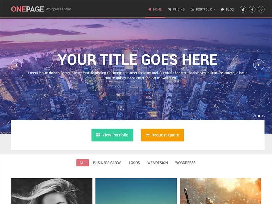 OnePage by MyThemeShop best WooCommerce theme