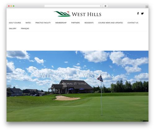 Oshin theme WordPress - westhillsgolf.com