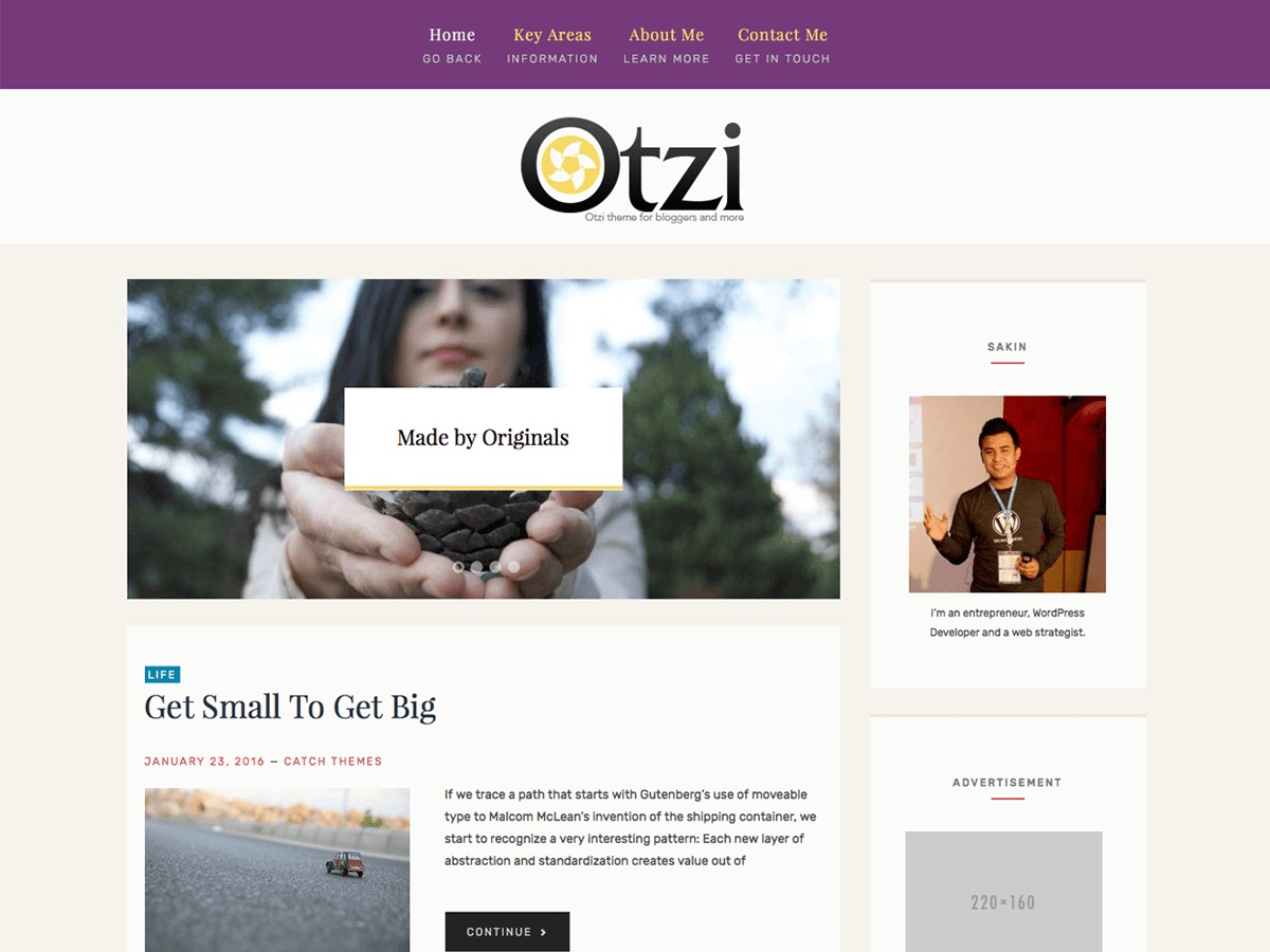 Otzi Lite WordPress theme download