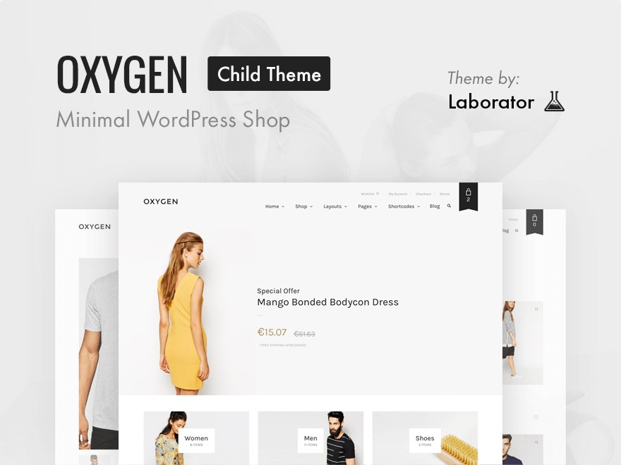 Oxygen - Child Theme WordPress page template
