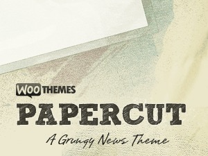 Papercut WordPress theme design