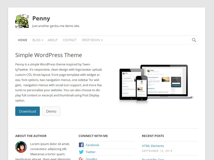 Penny free website theme