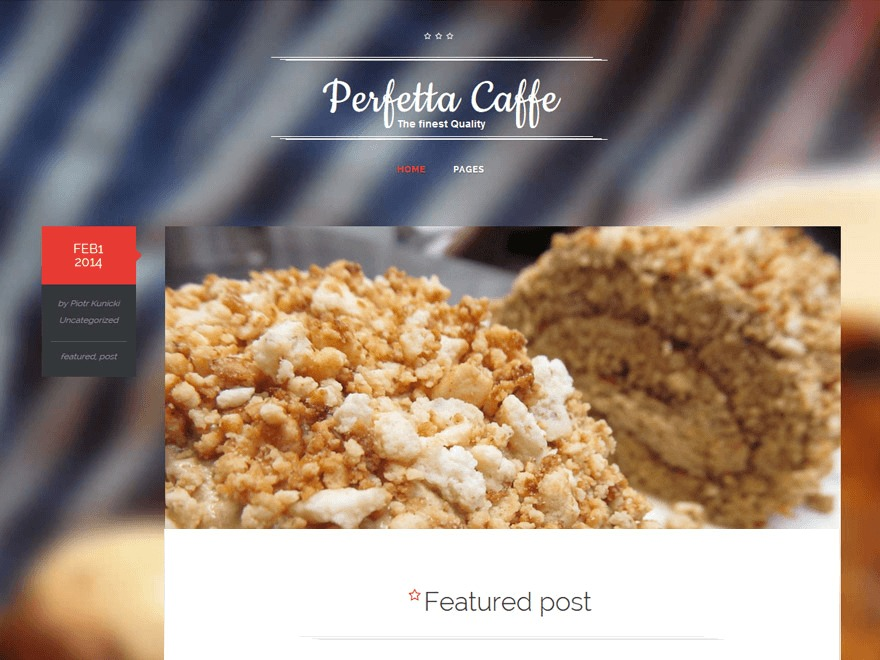 Perfetta WordPress blog template
