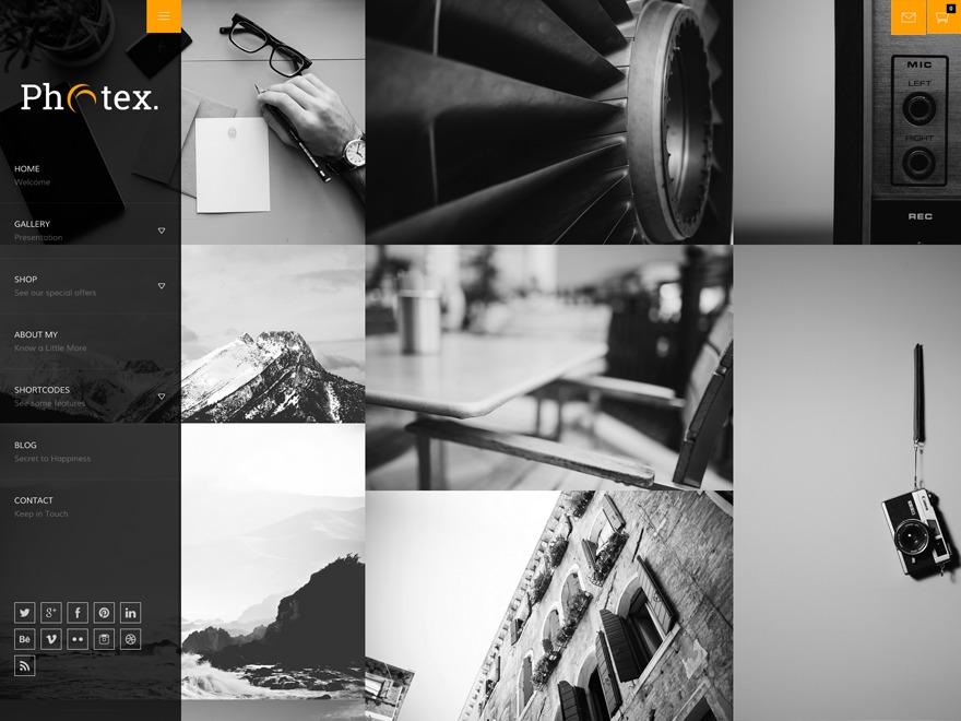 Photex WordPress gallery theme