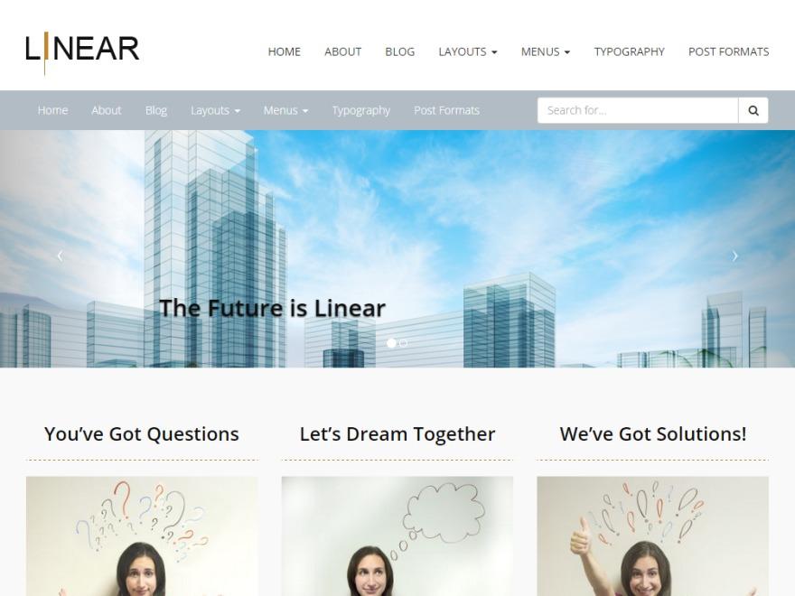 Pixel-Linear WordPress free download