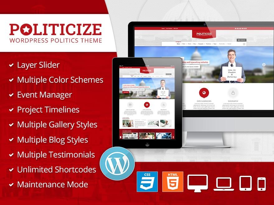 Politicize WordPress Theme template WordPress