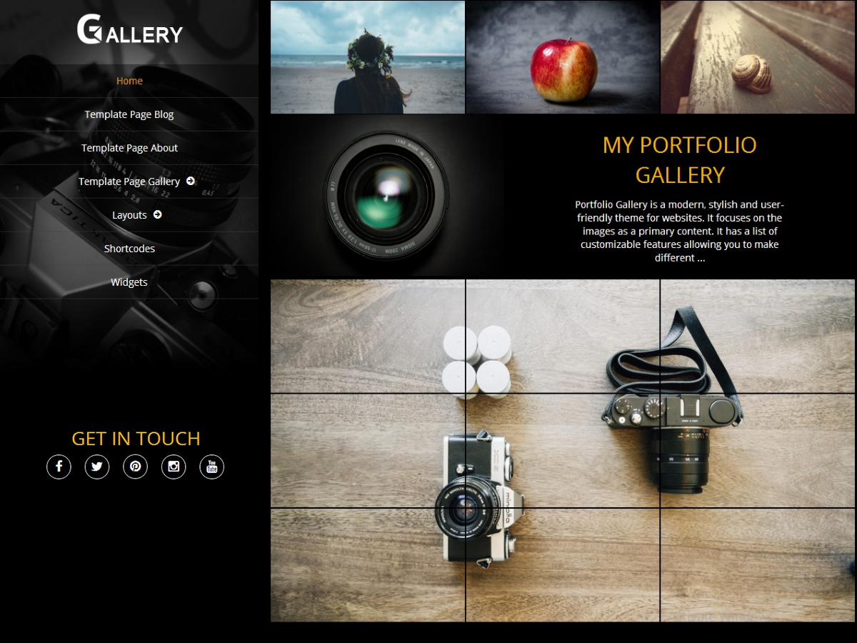 Portfolio Gallery WordPress shopping theme