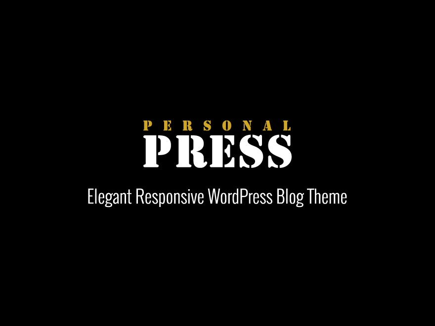 PRESS personal WordPress theme