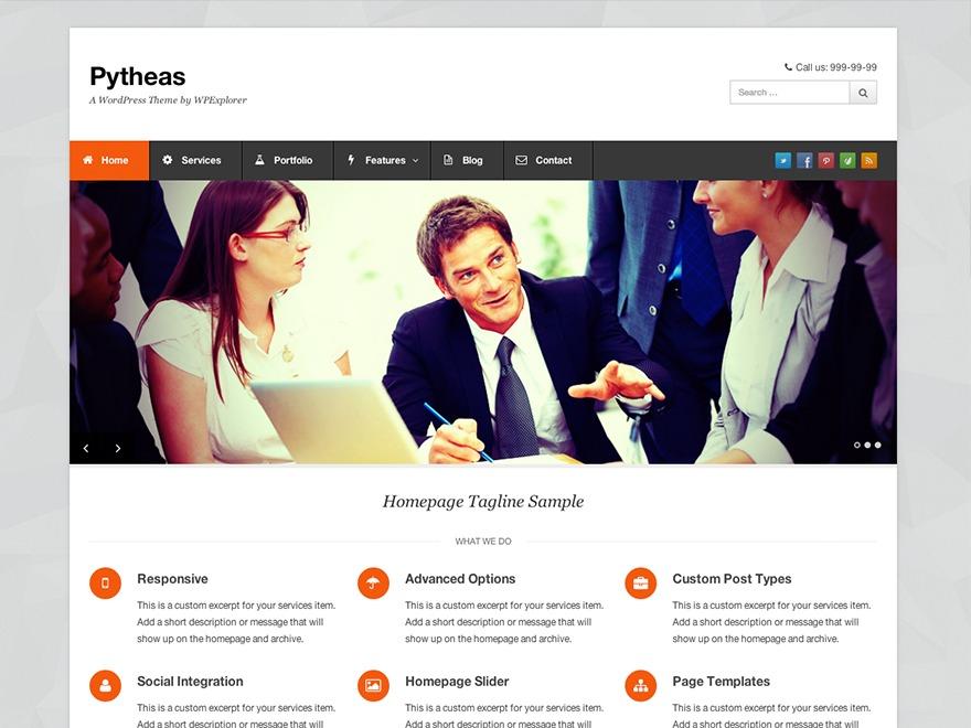 Pytheas WordPress portfolio theme