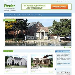 Realtr real estate template WordPress