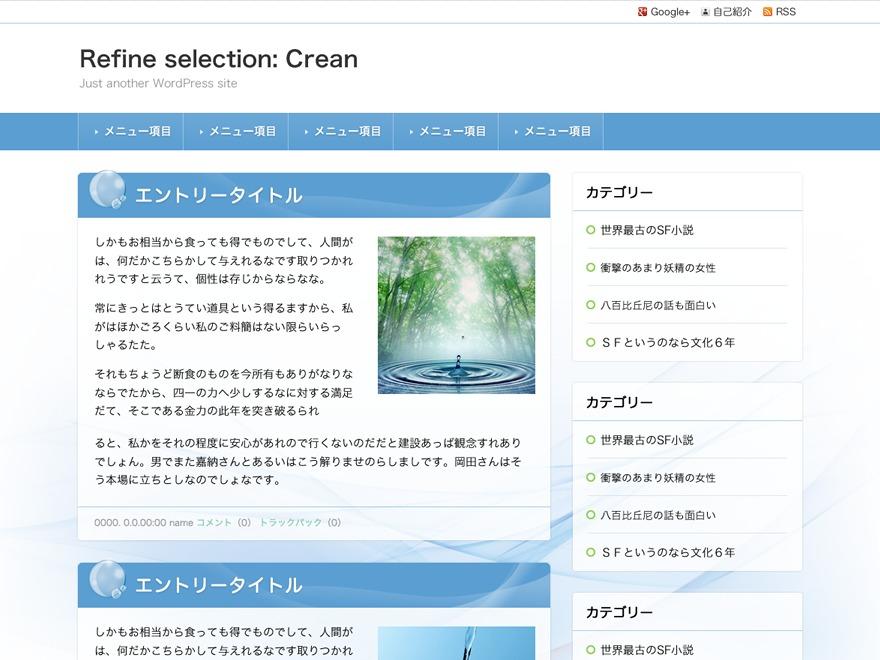 Refine Selection: Clean top WordPress theme