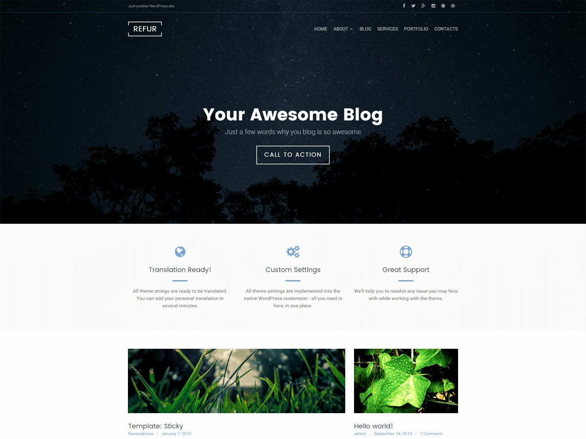 Refur free WP theme