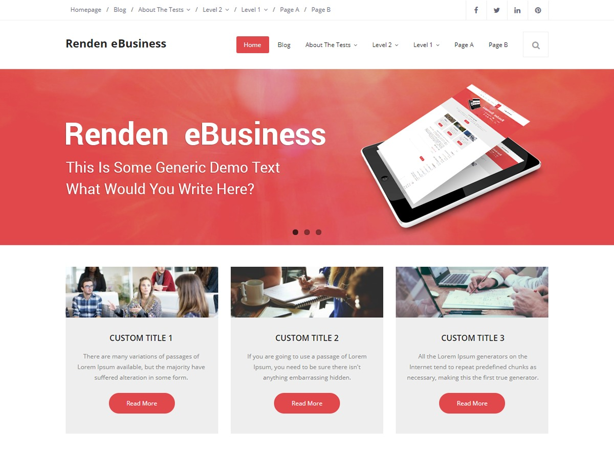 Renden eBusiness WordPress shopping theme