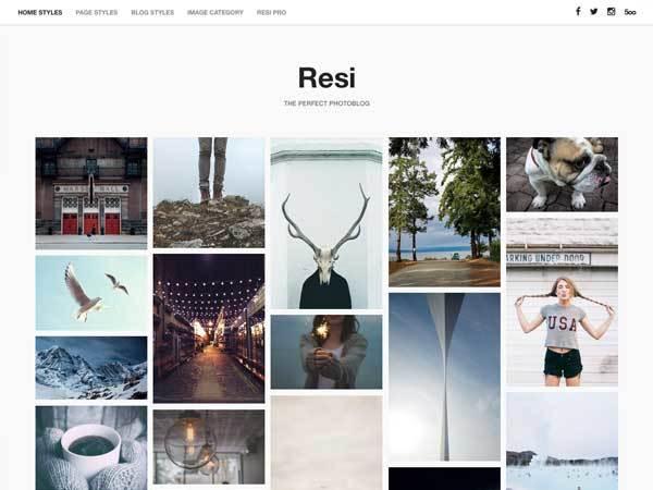 resi WordPress photo theme
