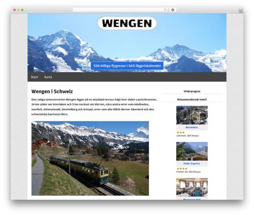 Responsive Pro WordPress template - wengen.se