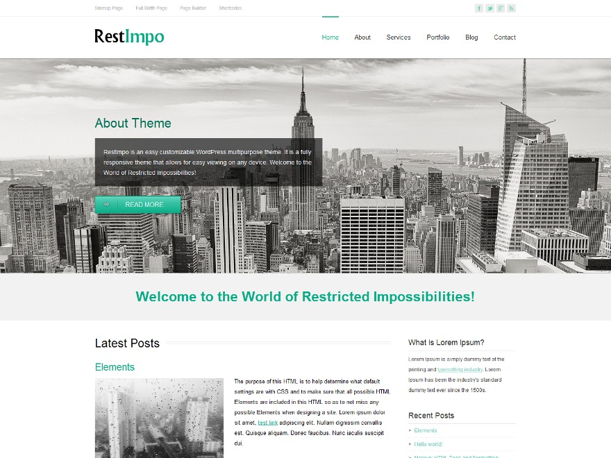 RestImpo WordPress theme free download