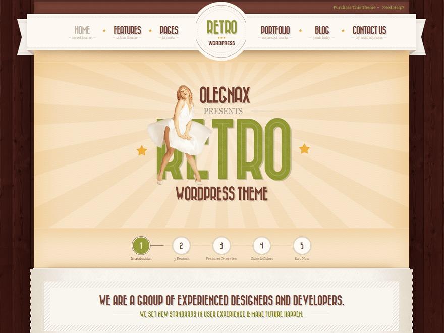 Retro - Premium Vintage WordPress Theme top WordPress theme