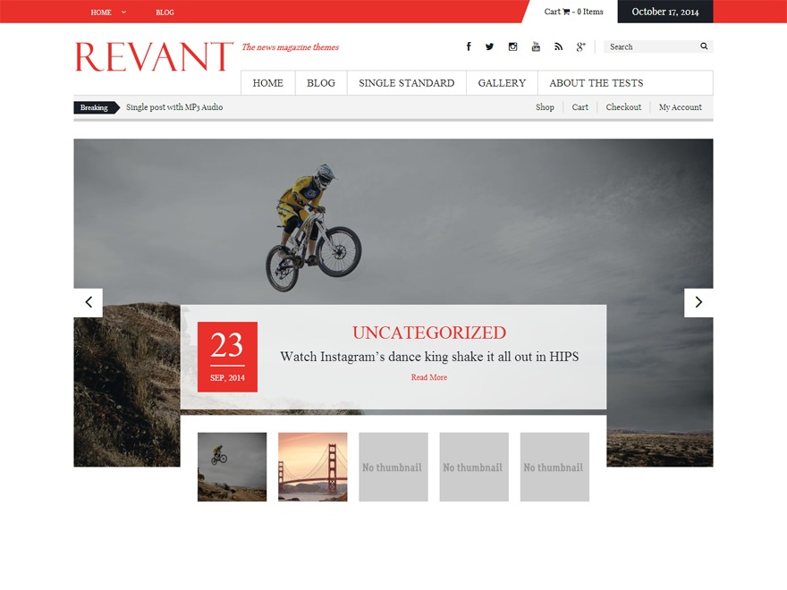 Revant WordPress magazine theme