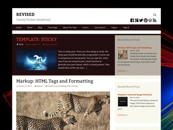 Revised WordPress blog theme