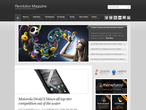 Revolution WordPress blog template